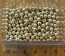400 gold plastic smooth round acrylic beads 4mm small little spacers metallic
