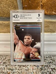 1991 MIKE TYSON RINGLORDS SAMPLE PROMO BOXING CARD BECKETT BCCG 9 NR MINT