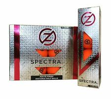 Zero Friction Spectra Golf Balls (Matte Orange, 12pk) Distance New
