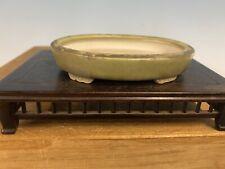 """Older Porcelain Shohin Or Mame Size Bonsai Tree Pot By Heian Yusen 4"""""""