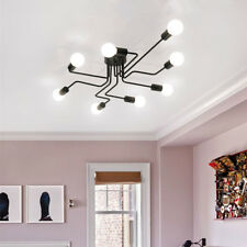 Modern Ceiling Lights Lobby Black Chandelier Lighting Bedroom LED Pendant Light