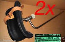 2x MAQUET BEINHALTER 2 ARMHALTER KLOBEN FELD OP TISCH ARM LEG HOLDER FIELD TABLE