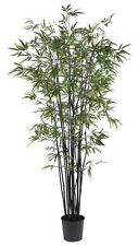 Nearly Natural 5277 Black Bamboo Silk Tree- 6.5-Feet- Green NEW