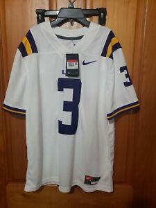 Nike BV7382-100 Authentic Sewn LSU Beckham JR Jersey Mens size Large Stitched