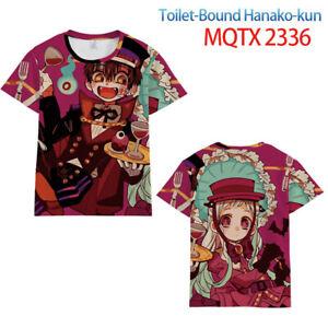 Women Men Tops Anime Toilet-bound Hanako-kun Short sleeve T-shirt Unisex clothes