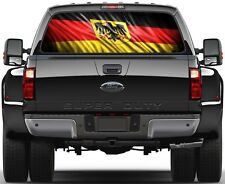 Germany Flag version 1 Rear Window Graphic Decal Truck SUV