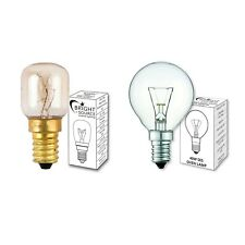 Bright Source 15w 25w 40w E14 Oven Lamp. 300° Heat Resistant Cooker Light bulb
