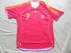SPAIN - RAUL #7 WORLD CUP 2006 Soccer Futbol Jersey - Adidas - Size XL