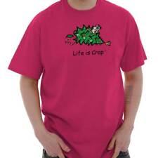 Life is Crap Christmas Cat Funny Shirt Cool Cute Gift Idea Classic T Shirt Tee