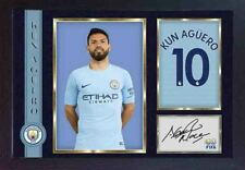 Kun Sergio Aguero signed autograph photo print repro Football Man City Framed