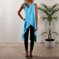 Women Summer Vest Top Sleeveless Shirt Blouse Ladies Loose Tank Top Tee T-Shirt