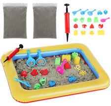 Kinetischer Sand 2 kg mit Aufblasbarer Mini Sandkasten und Förmchen 9095