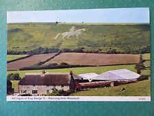 Vintage Postcard: Hill Figure of King George 111 Returning from Weymouth, Dorset