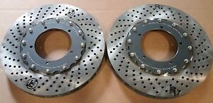 Porsche 911 930 RSR Front Brake Rotors 2 piece with hats and hardware