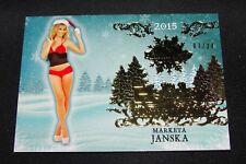 2015 Benchwarmer MARKETA JANSKA Holiday #73 Gold Foil Insert/24 PLAYBOY Playmate