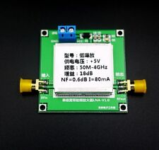 50Mhz-4Ghz Low Noise Broadband Rf Signal Amplifier Repeater Nf=0.6dB 18dB Gain