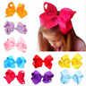 16 Color Fashion Cute Girls Bow Butterfly Cloth Alloy Hair Accessories Hairpin