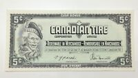 1974 Canadian Tire 5 Five Cents CTC-S4-B-TN Uncirculated Money Banknote E128