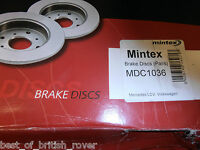 Genuine Mintex Rear Brake Discs Mercedes Sprinter 1995-2006 MDC1036 NEW