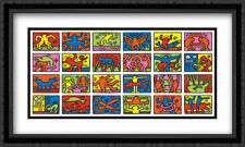 Retrospect 1989 2x Matted 32x24 Large Framed Art Print by Keith Haring