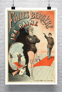 Ira Paine Trick Shooter Vintage Sideshow Poster Giclee Print on Canvas or Paper