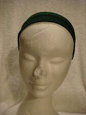 Stretch  head band/ bandeau  in dark green 5cms wide