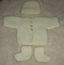 Divine Hand Knitted Premmie Baby Three Piece Set, Size 00000-0000