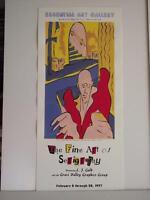 ART SHOW DEMO DETAILED PROCESS SILKSCREEN *Fine Art of Serigraphy* POSTER