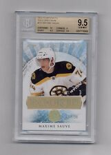 MAXIME SAUVE 2012-13 ARTIFACTS GOLD SPECTRUM RC #4/25 BRUINS BGS 9.5 GEM MINT