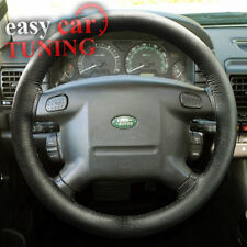 FOR RANGE ROVER P38A 1994-2002 BLACK REAL GENUINE LEATHER STEERING WHEEL COVER
