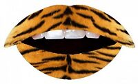 2 Lip Sticker Temporary Tattoo Transfers Celebrity Party Fancy Dress Lipstick