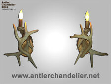 WHITETAIL 1 LIGHT SCONCE  Rustic Lamps, Real Antler, ACS Lights, Chandelier SC1