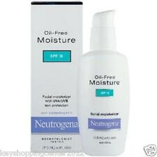 Neutrogena Oil-free Facial Moisturizer Absorbs Quickly SPF15 x 2 bottles