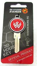370020 WESTERN SYDNEY WANDERERS LW4 A-LEAGUE SOCCER SILVER SCULPTURED HOUSE KEY