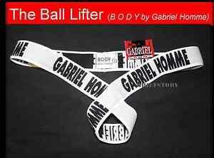 "GABRIEL HOMME Bulge Enhancer Sling criss-cross BALL LIFTER ~L 31""-32"" many cols."