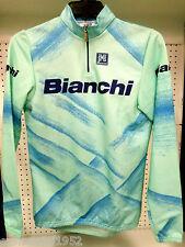 BIANCHI maglia invernale abbigliamento ciclismo bici corsa mtb celeste lunga