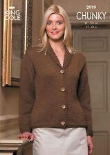 King Cole Chunky Knitting Pattern 2919:  Sweater & Jacket