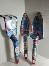3Pcs Floral Hand Shovel, Trowel, and  Rake Gardening/Beach Tools Hard  Plastic