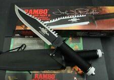 RAMBO II FIRST BLOOD 25th Year Licensed sharp bowie Survival Hunting Knife FK361