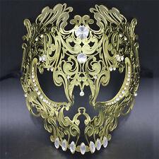 Venetian Demon Full Face Skull Men Metal Laser Masquerade Party Mask Ball Prom