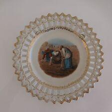 Assiette porcelaine art nouveau