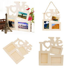 Family DIY Durable Hollow Love Wooden Photo Picture Frame Rahmen Home Decor Pop