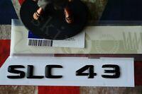 SLC43 SLC Kofferraum Aufkleber Deckel Emblem Abzeichen Schriftzug Badge schwarz