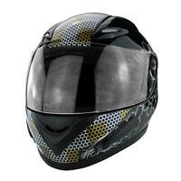 Full Face DOT Approved Motorcycle Helmet Flip Up Visor Gloss Black
