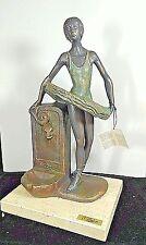 "12½"" By Anglada Dancer Ballerina Next to Water Fountain Sculpture Figurine Spain"