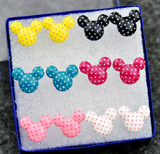 Fashion Lovely 6 Pairs Mickey Earrings Wholesale Lot