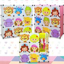 Magic Kids Wardrobe Childrens Cabient Boxes Storage Character Design 9 x Cubes