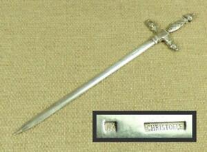 """CHRISTOFLE """"SWORD"""" Antique/ Vintage LETTER OPENER / MEAT SKEWER - Silver Plated"""
