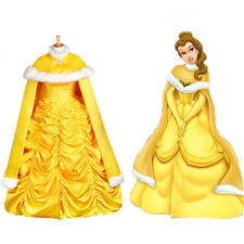 US SELLER! Halloween Princess Belle Costume Beauty and The Beast Fancy Cape Only