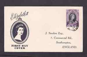 Sierra Leone 1953 FDC 1st day cover to England QE II Coronation Sanders cachet